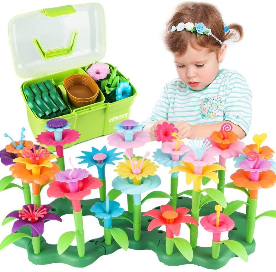 Jouets filles 3 à 6 Ans, de Construction de Jardin de Fleurs