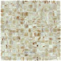 elida ceramica dynasty tile 13 x13 glass mosaic in white bronze