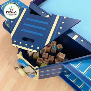 kidkraft airplane toddler bed storage room
