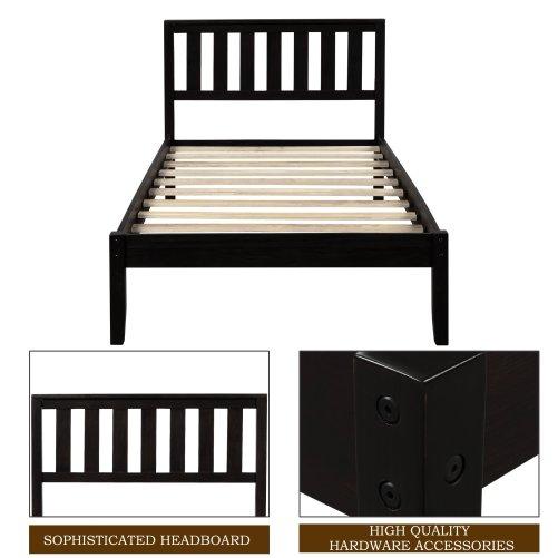 Wood Platform Bed with Headboard/Wood Slat Support,Twin 4