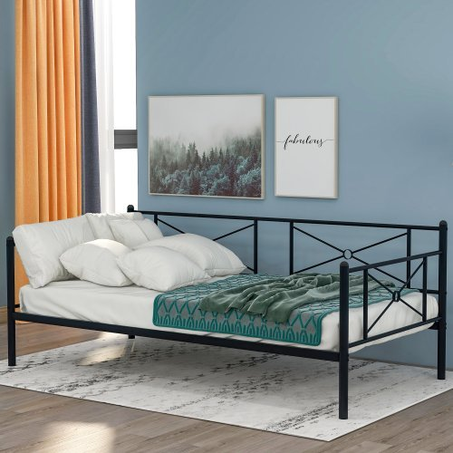 Metal Daybed Frame with Steel Slats, Twin Size 8