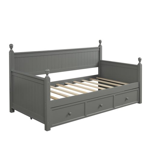 Wood Daybed with Three Drawers ,Twin Size 3