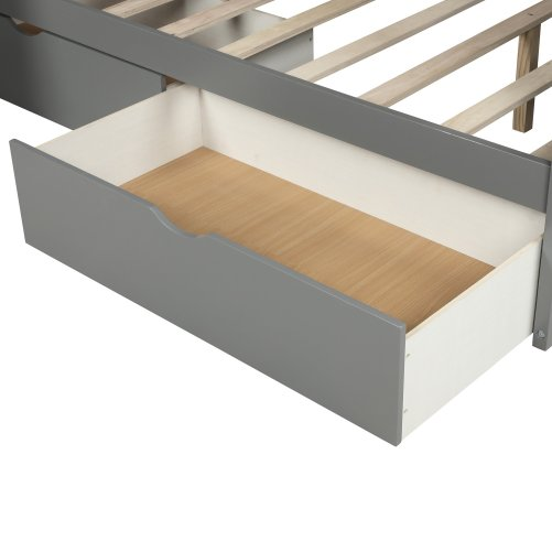 Twin over Full Bunk Bed with Drawers,Storage and Slide 8