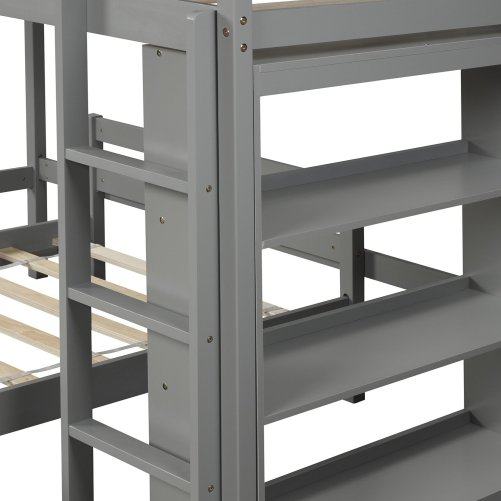 Twin over Twin Bed with Shelves 14