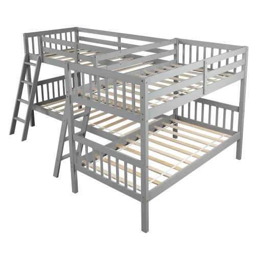 L-Shaped Bunk Bed Twin Size 6