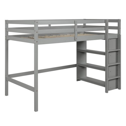 Twin over Twin Bed with Shelves 4