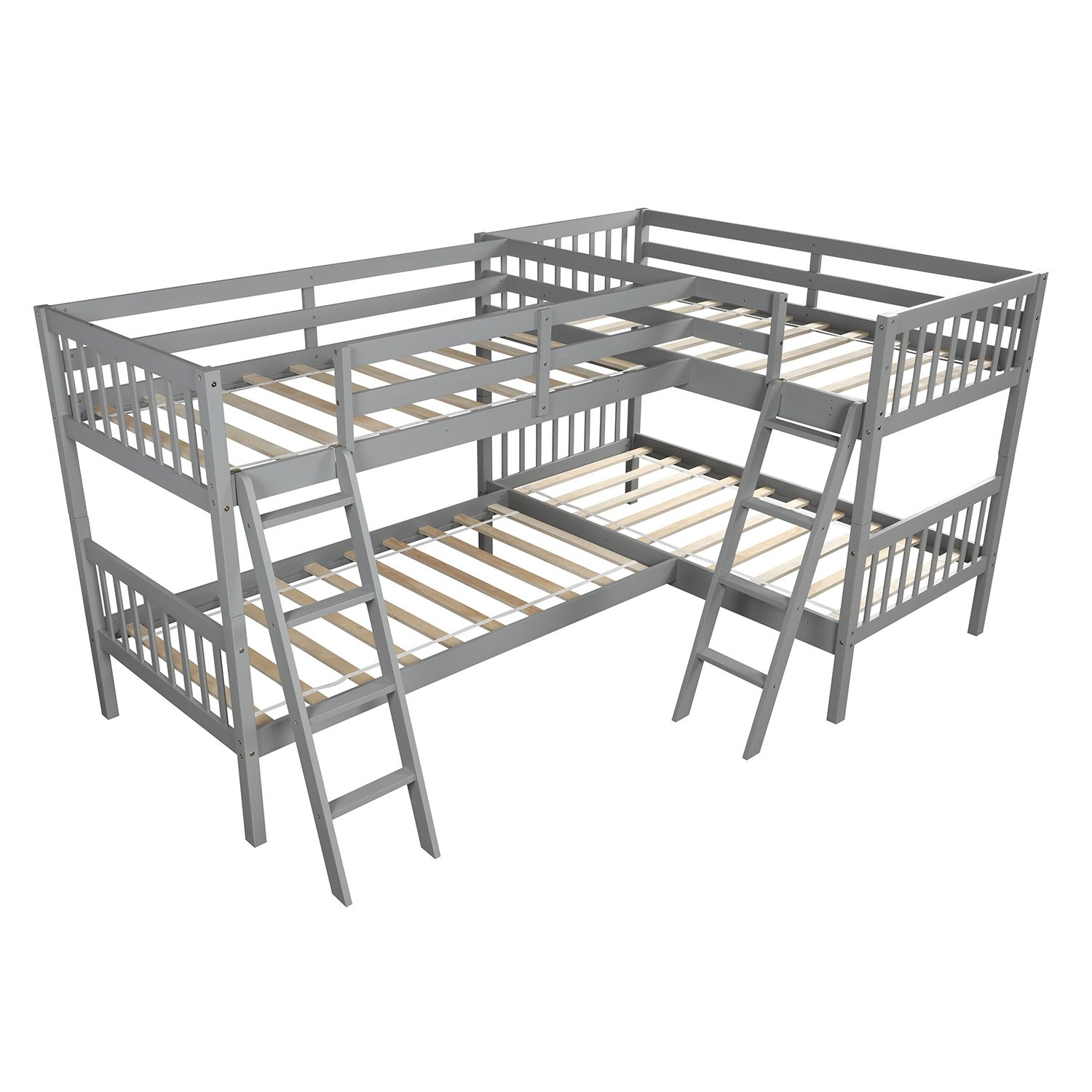 L Shaped Bunk Bed Twin Size