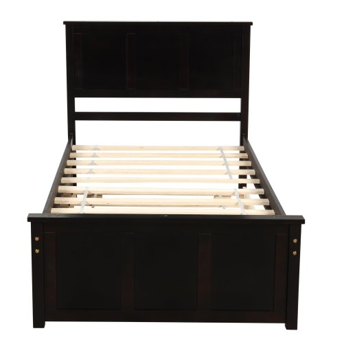 Platform Storage Bed, 2 Drawers With Wheels 8