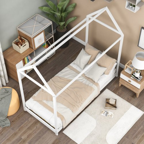 Twin Size Wooden House Bed