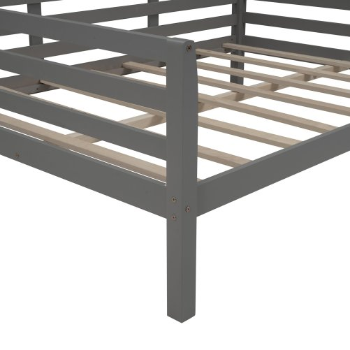 Full Size Daybed With Clean Lines, Wooden