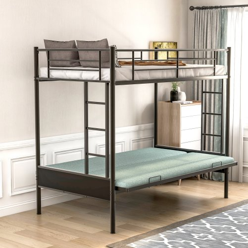 Twin over Full Metal Bunk Bed, Multi-Function 1