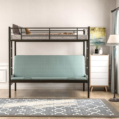 Twin over Full Metal Bunk Bed, Multi-Function 5