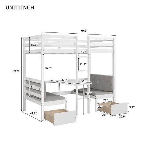 Functional Bunk bed , twin size 5