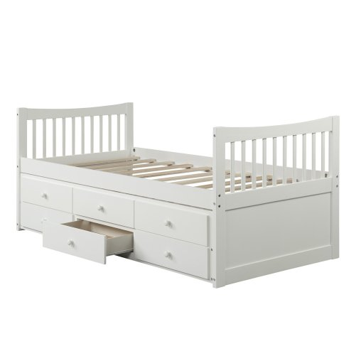 Bed with Trundle and 3 Storage Drawers 18