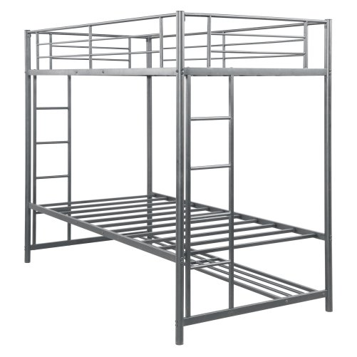 Twin over twin bunk bed with storage 4