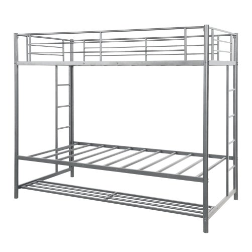 Twin over twin bunk bed with storage 3