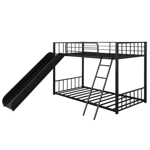 Metal Bunk Bed with Slide, Twin over Twin 3