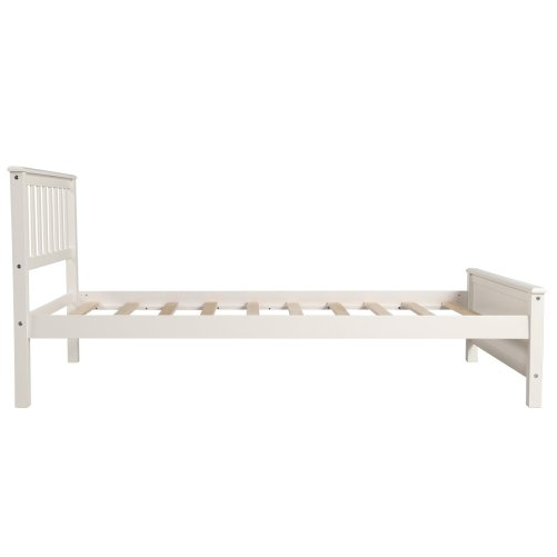 Wood Platform Bed with Headboard,Footboard and Wood Slat Support 9