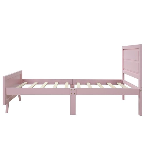 Wood Platform Bed Twin Bed Frame Mattress Foundation with Headboard and Wood Slat Support 12