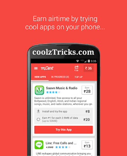 mcent FREE RECHARGE-15 HIGHEST PAYING FREE RECHARGE APPS WITH UNLIMITED TRICK IN 2016
