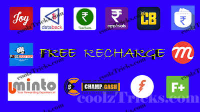 FREE RECHARGE-15 HIGHEST PAYING FREE RECHARGE APPS WITH UNLIMITED TRICK IN 2016