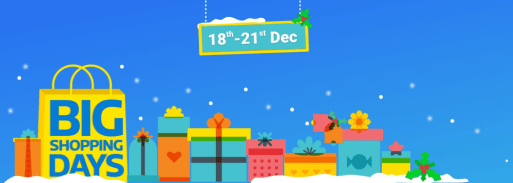 {*LOOT*} Flipkart Big Shopping Days Sale Are Back [Dec 18th - 21th 2016]