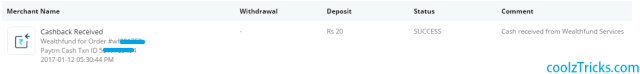 (Maha Loot) Wealthfund-Free Rs.20 Paytm CashOn Sign Up+Rs.30/Refer
