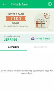 {*LOOT*} Chillr App : Refer Friends & Earn Unlimited Free Bank Cash (Rs.100/Refer)