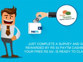 Indiaspeaks.net Free Paytm Cash Trick