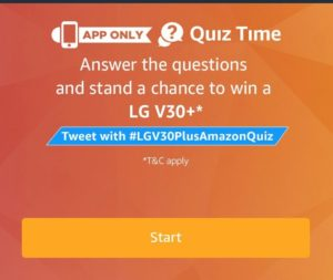 (All Answers)Amazon LG V30+ Quiz - Answers & win LG V30+ Smartphone