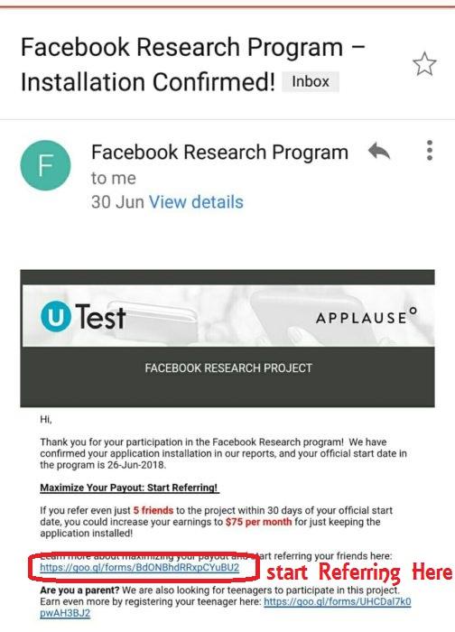 facebook resarch app loot