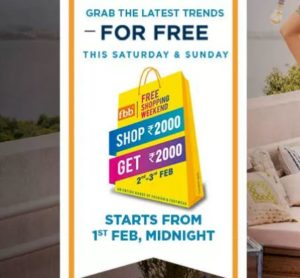 Fbb Free Shopping Weekend - Rs.2000 Shopping For Free