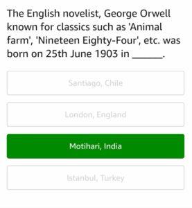 Amazon June Quiz Answers