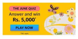 Amazon The June Quiz Answers
