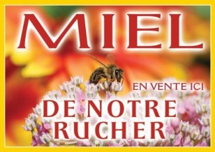 Panneau miel pvc abeillefleur blanche