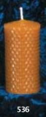 100 gr de cire, mèche fine, 11 x 3 cm.