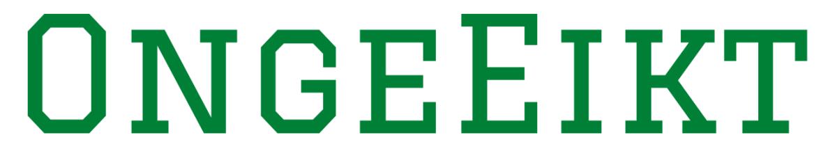 Logo letters OngeEikt graduate groen transparante achtergrond