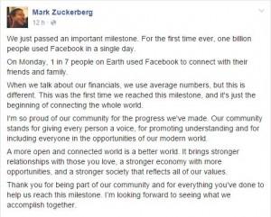 zuckerberg 1 billion