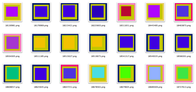A bunch of Albers images