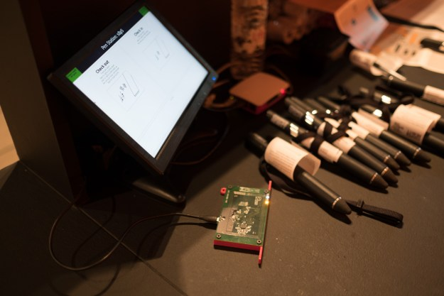 Dan's Raspberry Pi powered Pen registration and ticket printing station.