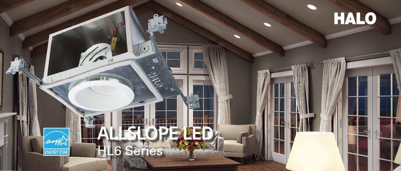sloped ceiling light led pitched