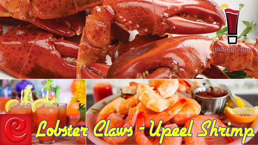 ½ lb. Lobster Claws 6.95 | 1 lb. U-peel shrimp 6.95