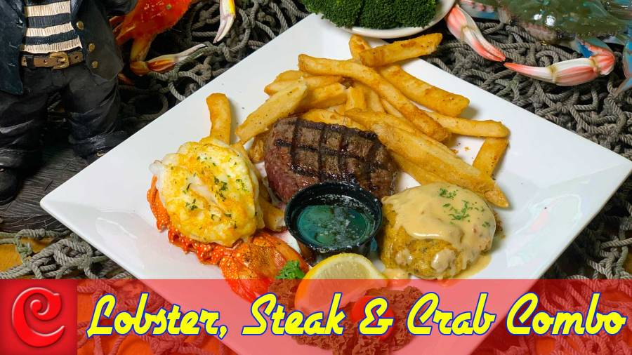 Lobster, Steak & Crab Combo 19.95