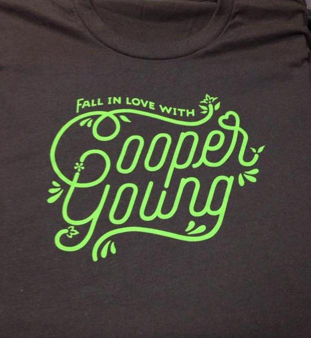 """""""Fall in Love with Cooper Young"""" t-shirts"""