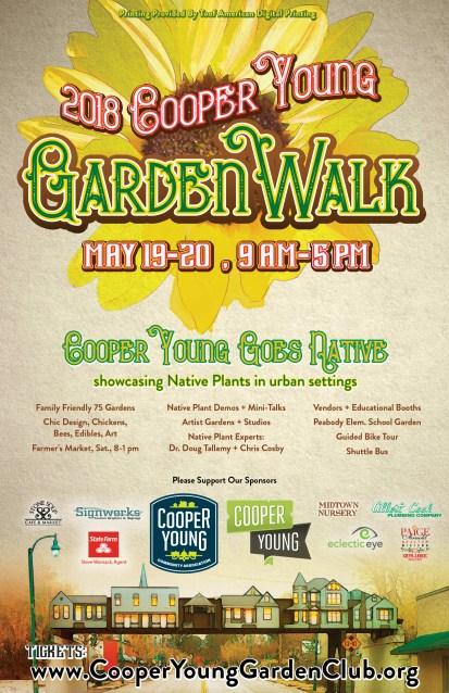 2018 Cooper Young Garden Walk Poster