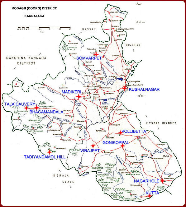 Coorg Map
