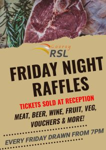 Friday Night Raffles @ Cooroy RSL