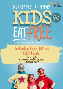 Kids Eat Free on Wednesdays and Fridays @ Cooroy RSL