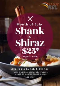 Shank & Shiraz - JULY