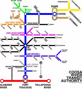 Coosa River Metro Map